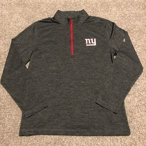 NY Giants Grey Half ZIP